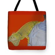 Iguana By The Tail Tote Bag