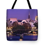 Ile De La Cite And Pont Des Arts / Paris Tote Bag by Barry O Carroll