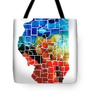 Illinois - Map Counties By Sharon Cummings Tote Bag