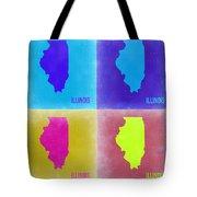 Illinois Pop Art Map 2 Tote Bag