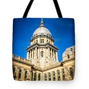 Illinois State Capitol In Springfield Illinois Tote Bag