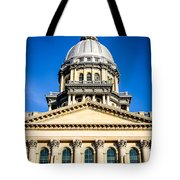 Illinois State Capitol In Springfield Tote Bag