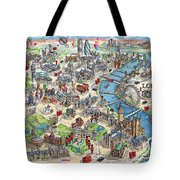 Illustrated Map Of London Tote Bag