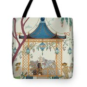 Illustration For 'fetes Galantes' Tote Bag