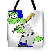 Illustration Of A Brontosaurus Baseball Tote Bag