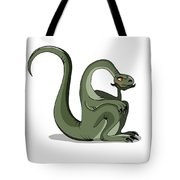 Illustration Of A Brontosaurus Thinking Tote Bag by Stocktrek Images