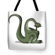 Illustration Of A Brontosaurus Thinking Tote Bag