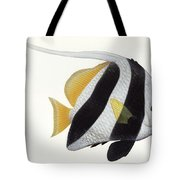 Illustration Of A Pennant Coralfish Tote Bag by Carlyn Iverson