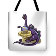 Illustration Of A Plateosaurus Fortune Tote Bag