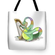 Illustration Of A Plateosaurus Playing Tote Bag