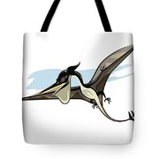Illustration Of A Pteranodon Dinosaur Tote Bag