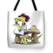 Illustration Of A Raptor Poet Thinking Tote Bag