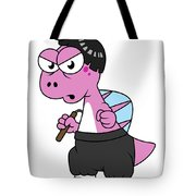Illustration Of A Spinosaurus Bruce Lee Tote Bag