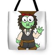Illustration Of A Stegosaurus Pirate Tote Bag