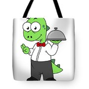 Illustration Of A Tyrannosaurus Rex Tote Bag