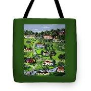Illustration Of A Village Tote Bag