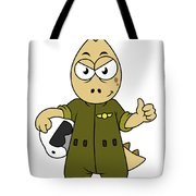 Illustration Of An Allosaurus Jet Pilot Tote Bag