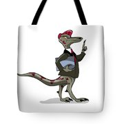 Illustration Of An Iguanodon Clerk Tote Bag
