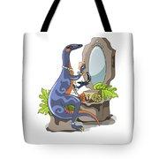 Illustration Of An Iguanodon Putting Tote Bag