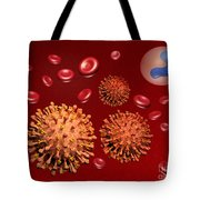 Illustration Of Influenza Tote Bag