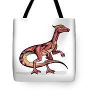 Illustration Of Velociraptor Tote Bag