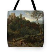 Imaginary Landscape With Buildings In Tivoli Tote Bag