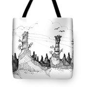 Imagination 1993 - Eagles Over Desert Rocks Tote Bag