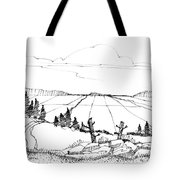 Imagination 1993 - Vast Valley View Tote Bag by Richard Wambach