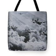 Imagine The Brave Men In These Bombers On A World War II Mission Tote Bag