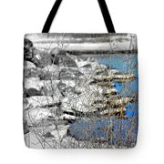 Imagined Snow At Hereford Inlet Tote Bag