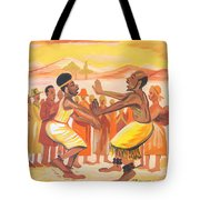 Imbiyino Dance From Rwanda Tote Bag
