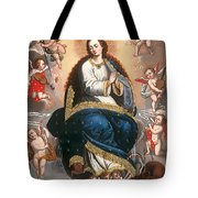 Immaculate Virgin Victorious Over The Serpent Of Heresy Tote Bag