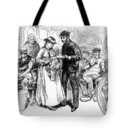 Immigrant Inspection, 1883 Tote Bag