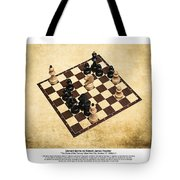 Immortal Chess - Byrne Vs Fischer 1956 - Moves Tote Bag