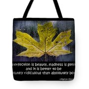 Imperfection Tote Bag