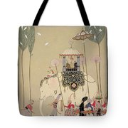 Imperial Procession Tote Bag by Georges Barbier