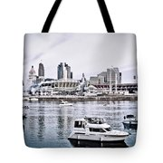 Implosion Of River Front Stadium Tote Bag