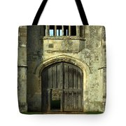 Imposing Front Door Of Titchfield Abbey Tote Bag