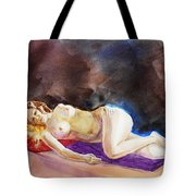 Impressionism Of Reclining Nude Tote Bag