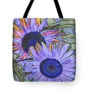 Impressionism Sunflowers Tote Bag