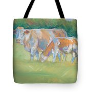 Impressionist Cow Calf Painting Tote Bag