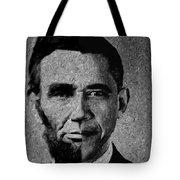 Impressionist Interpretation Of Lincoln Becoming Obama Tote Bag by Doc Braham