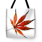 Impressionist Japanese Maple Leaf Tote Bag