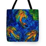 Impressionist Koi Fish By Sharon Cummings Tote Bag