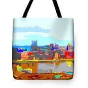 Impressionist Pittsburgh Across The River 2 Tote Bag