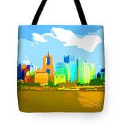 Impressionist Pittsburgh From The North Side Tote Bag