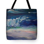 Impressionistic Abstract Wave Tote Bag