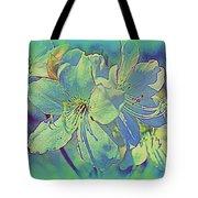 Impressionistic Blue Blossoms Tote Bag