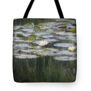 Impressions Of Monet's Water Lilies  Tote Bag