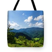Impressions Of Mountains And Forests And Trees Tote Bag